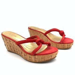 Kate Spade Wicker Bottom Red Heels